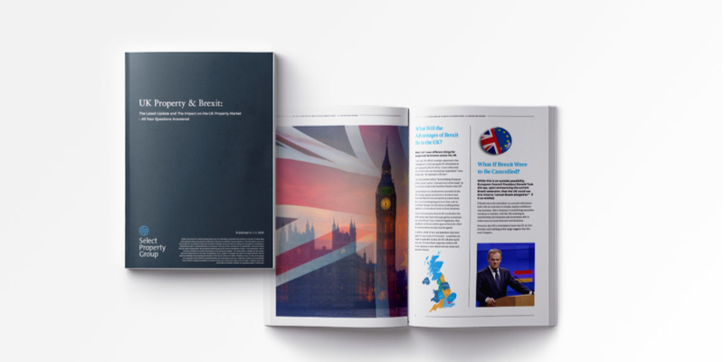 Cover of the 2020 Brexit & UK prroperty guide from Select Property Group