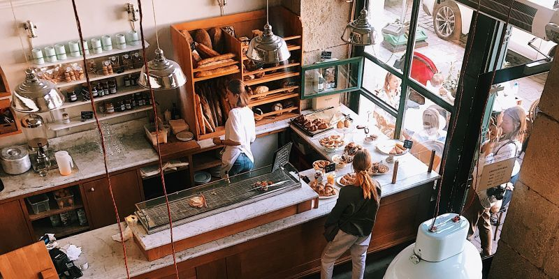 An first floor of a cafe on the ground floor, representing a commercial property